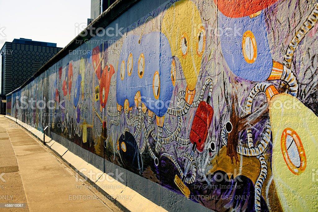 East Side Gallery wall of Berlin Germany stock photo