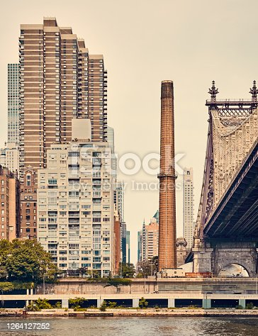 istock East Side of Manhattan with Ed Koch Queensboro Bridge, New York. 1264127252