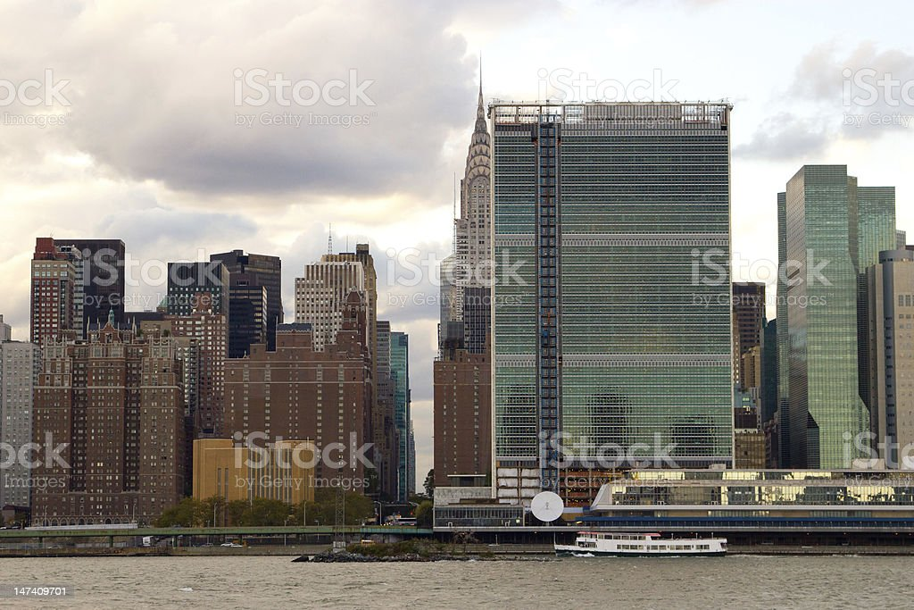 East Side of Midtown Manhattan, NY stock photo