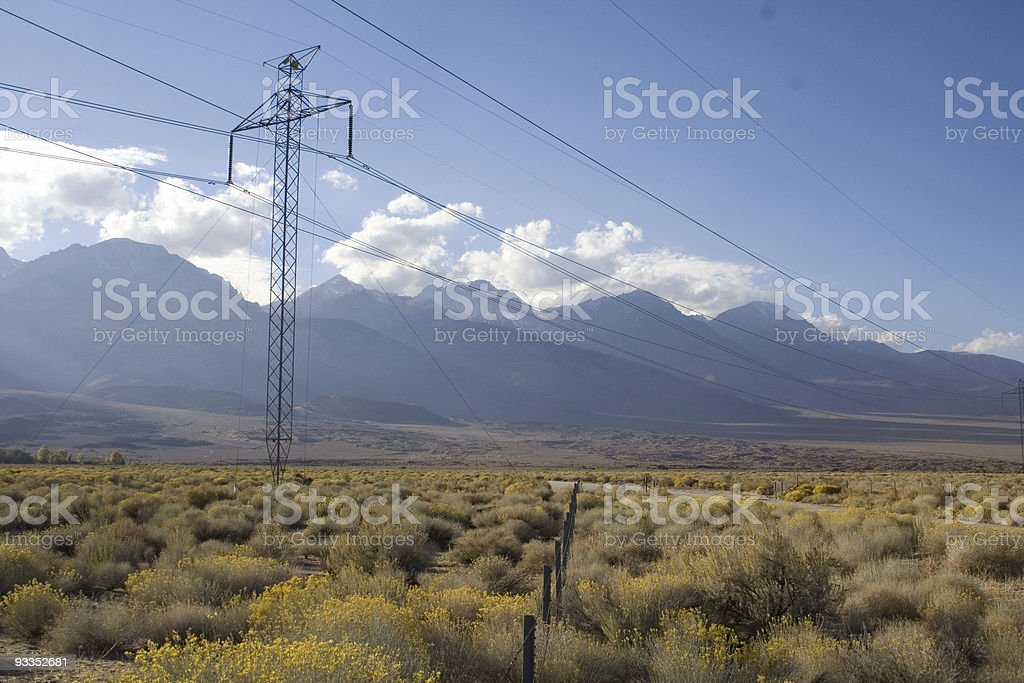 East side of the Sierra Nevada Mountains royalty-free stock photo