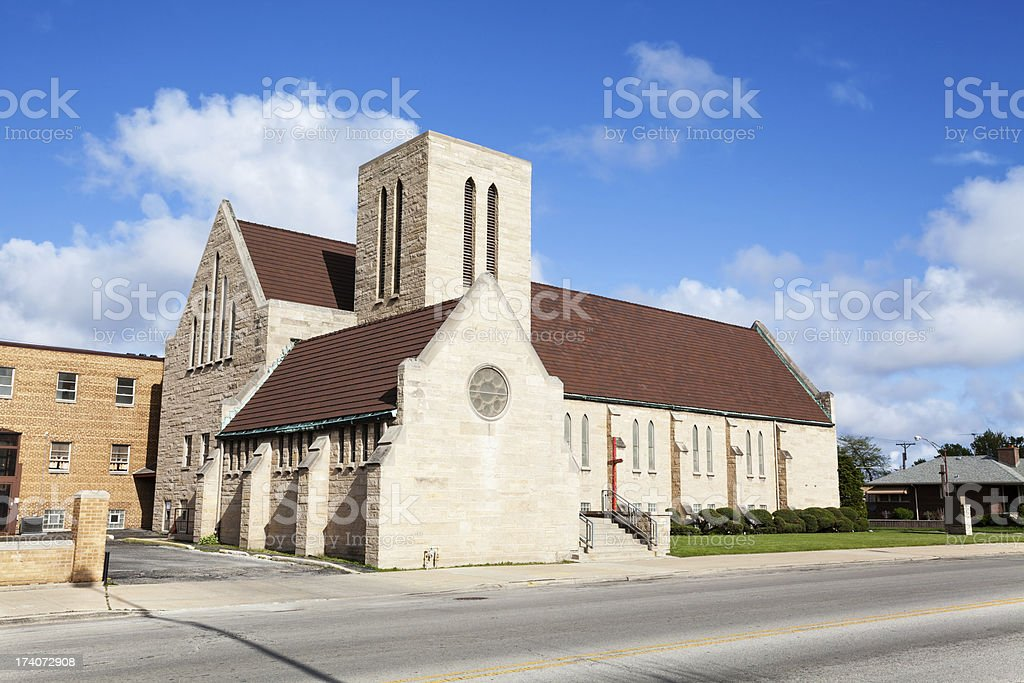East Side United Methodist Church, Chicago royalty-free stock photo