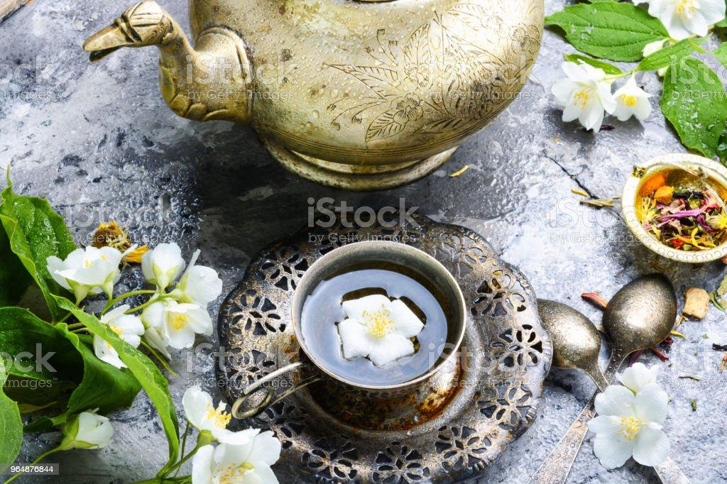 East tea jasmine flowers royalty-free stock photo