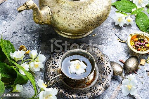 East Tea Jasmine Flowers Stock Photo & More Pictures of Antioxidant