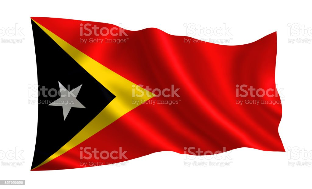 East Timor flag. A series of 'Flags of the world.'  (The country - East Timor flag) stock photo