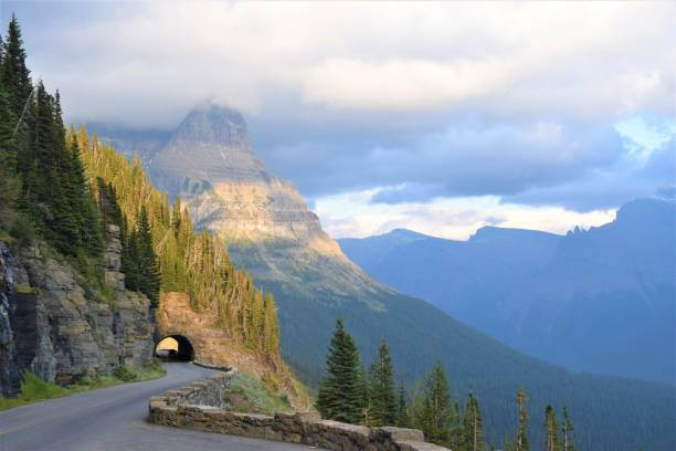 east tunnel - going to the sun road stock pictures, royalty-free photos & images