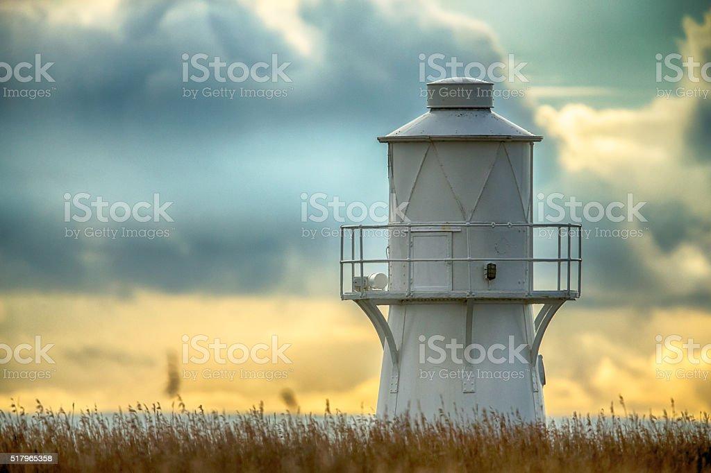 East Usk Lighthouse, Newport, Wales. stock photo