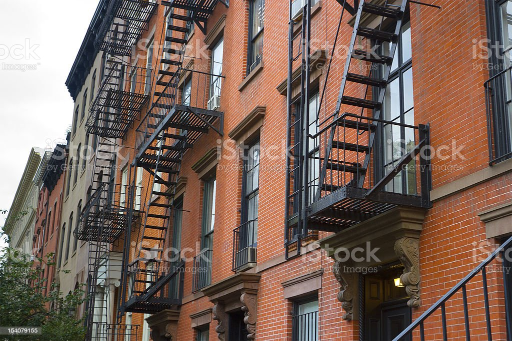 East Village Apartments, NYC stock photo