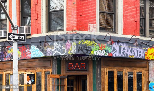 istock East Village Bar in New York City 654490824