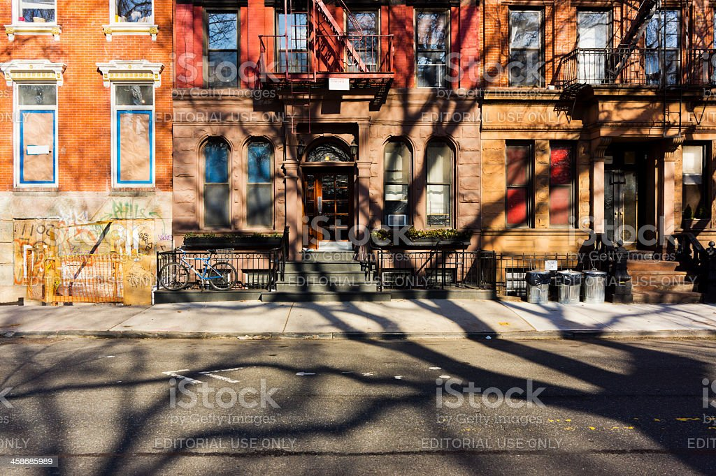 East Village New York City stock photo