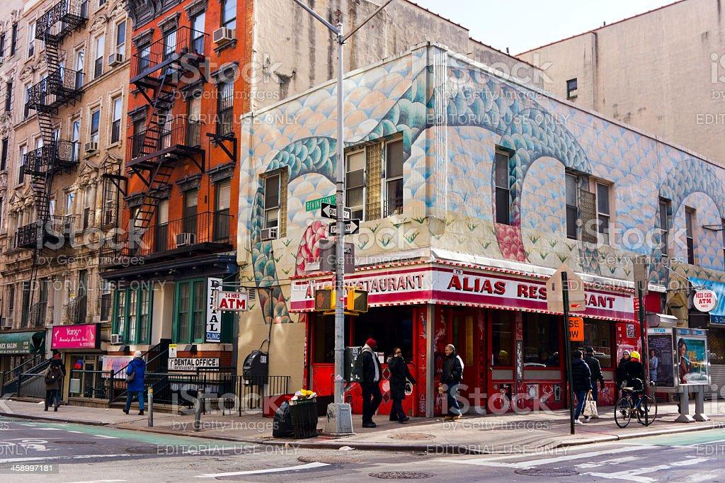 East Village New York stock photo