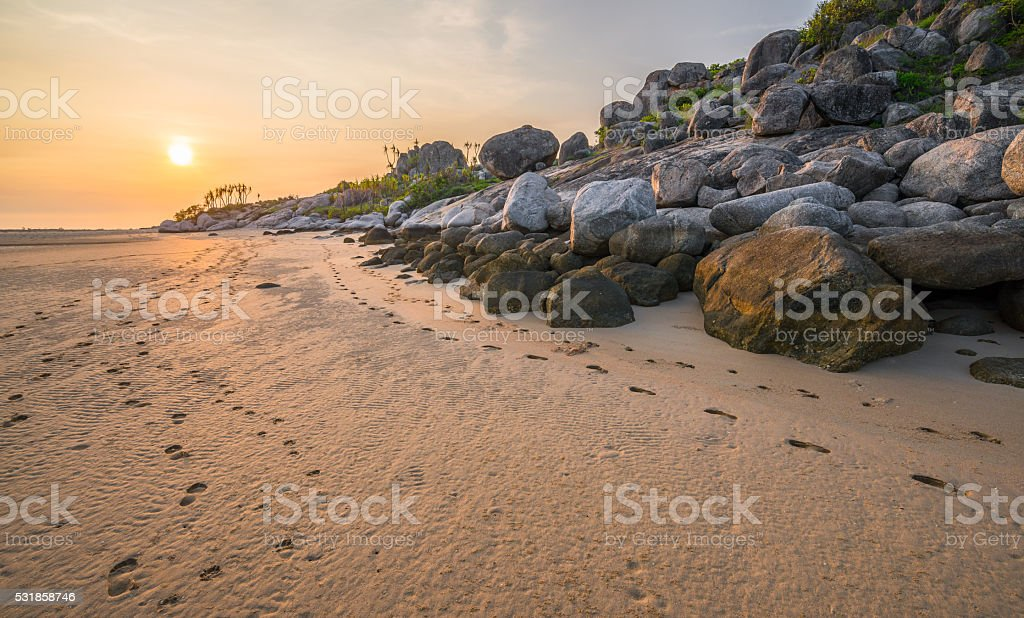 East Woody beach in Arnhem land northern Australia. stock photo