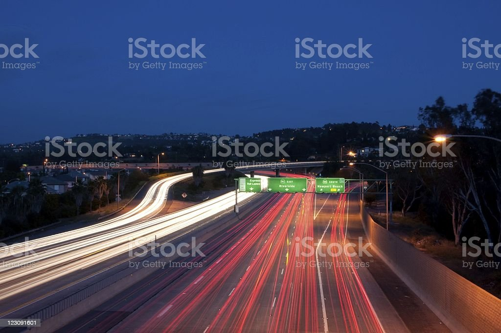 Eastbound 91 freeway stock photo