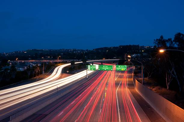 Eastbound 91 freeway stock photo