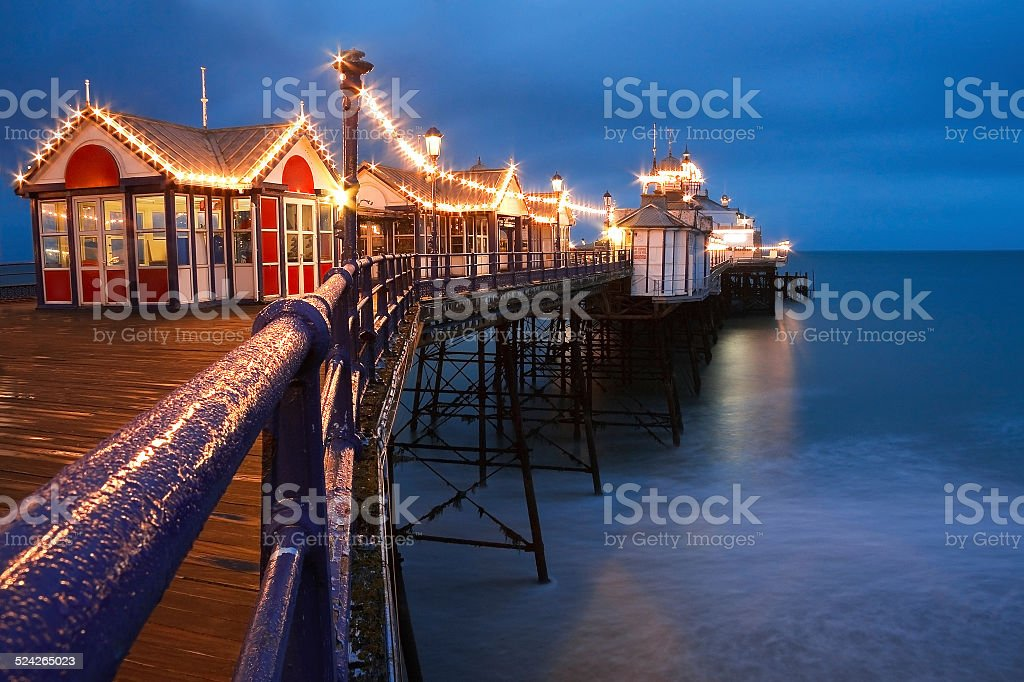 Eastbourne pier at dusk. stock photo
