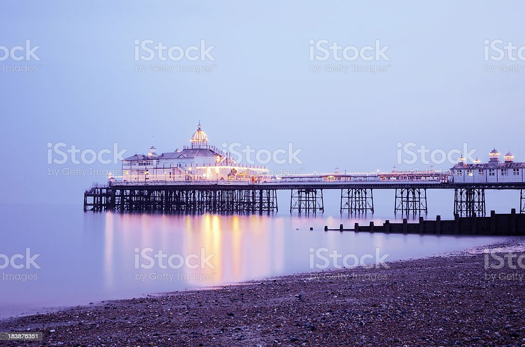 Eastbourne Pier at sunset stock photo