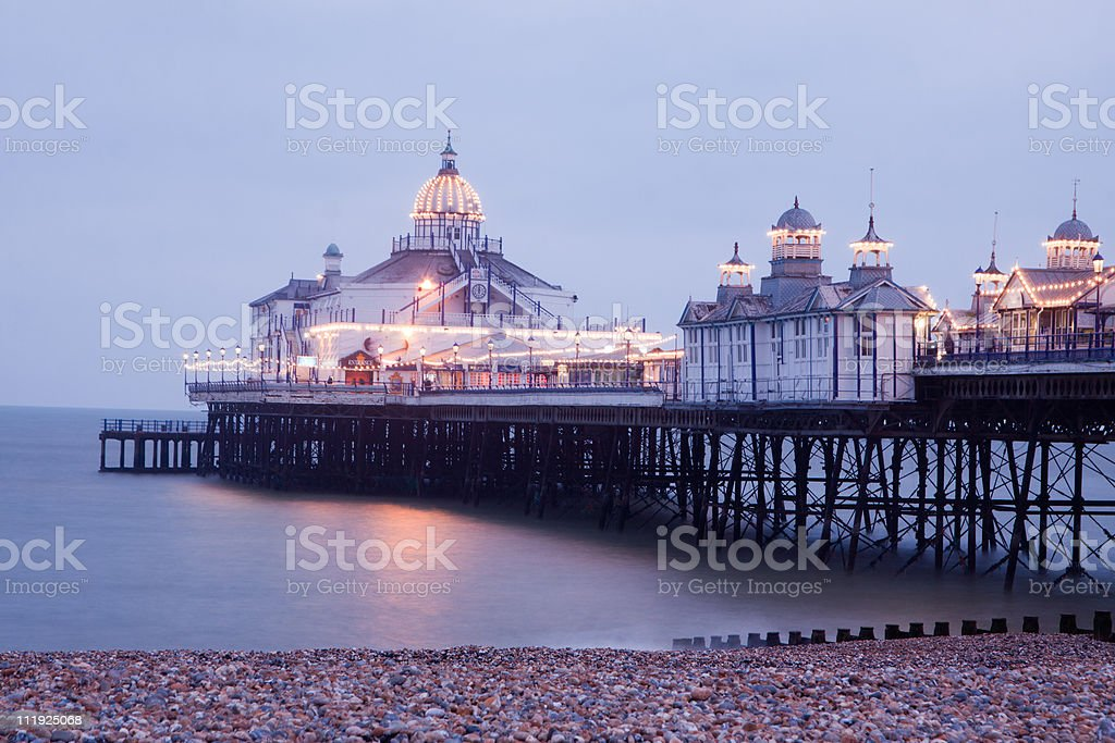 Eastbourne Pier in East Sussex, England stock photo