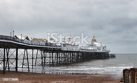 Eastbourne Pier is a seaside pleasure pier in Eastbourne, East Sussex, on the south coast of England.