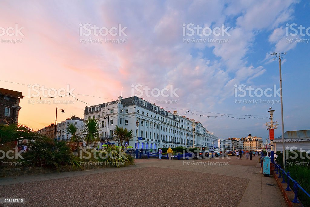 Eastbourne seafront. stock photo