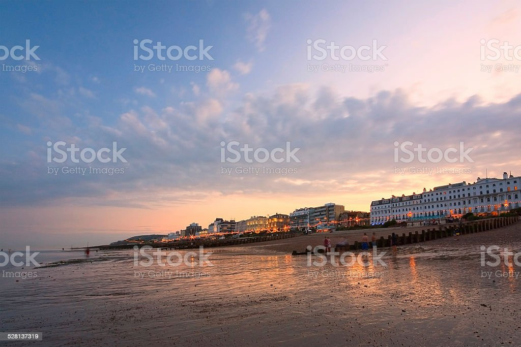 Eastbourne seafront, UK. stock photo