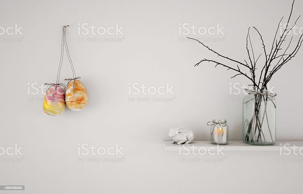 Easter abstract composition royalty-free stock photo