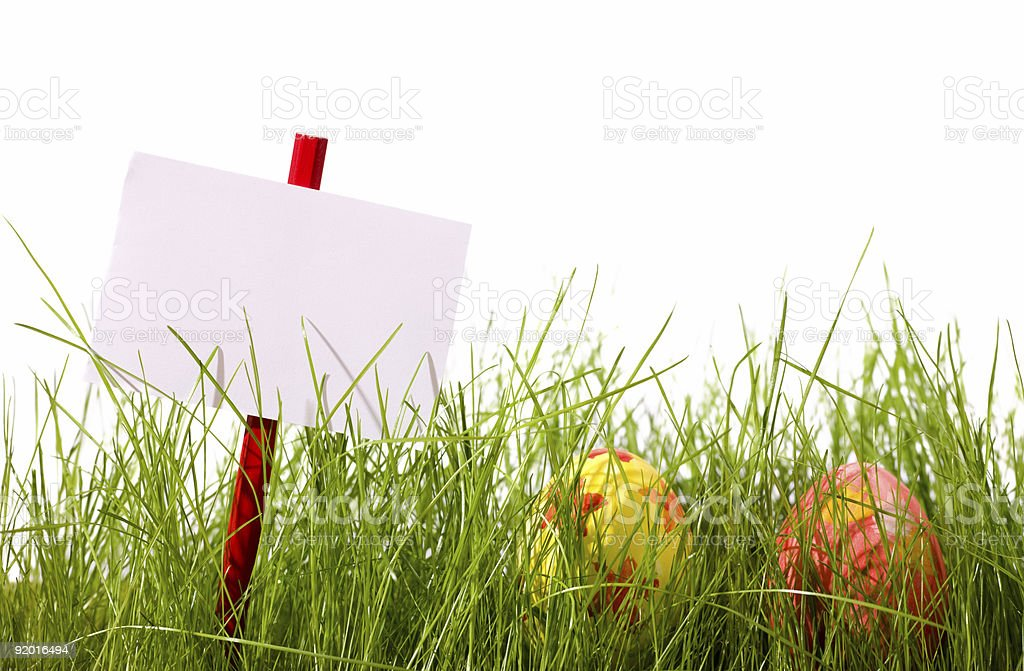 Easter advertisement royalty-free stock photo