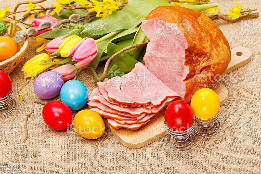 Easter arrangement stock photo