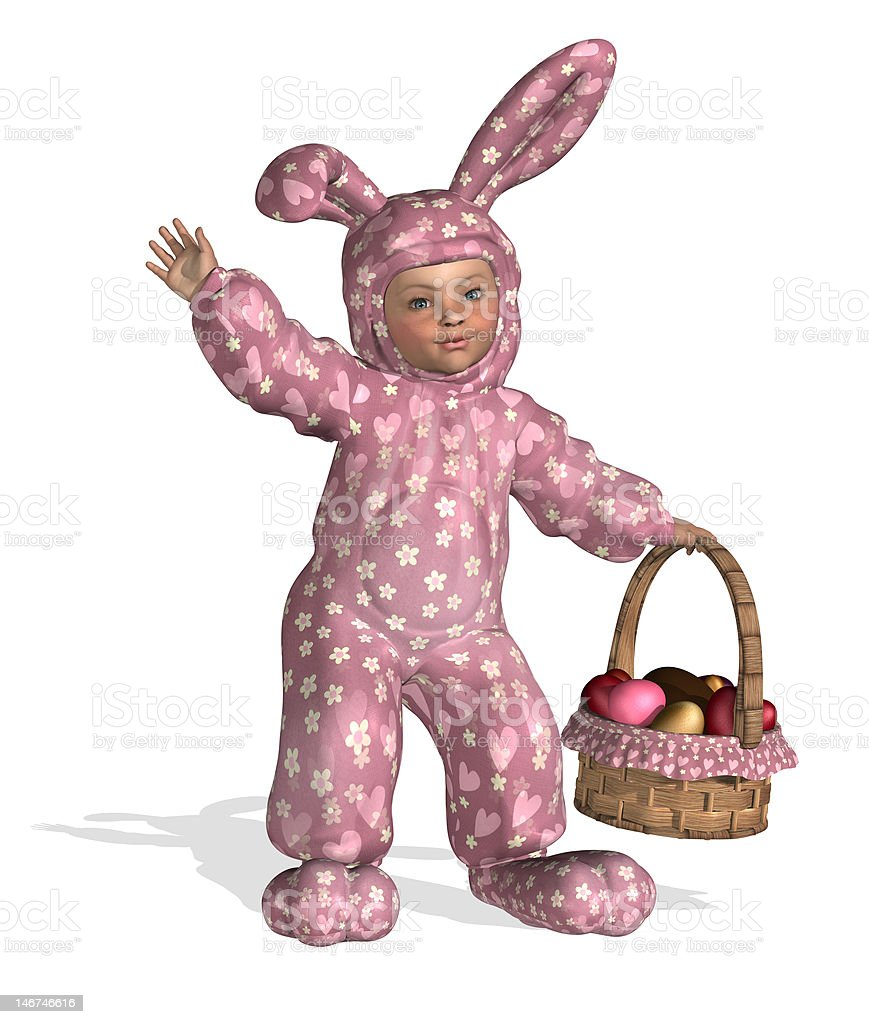Easter Baby royalty-free stock photo
