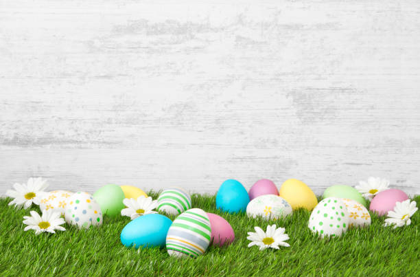 easter background - easter imagens e fotografias de stock