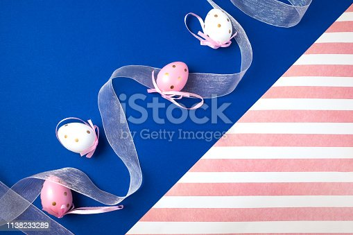 istock Easter background with eggs .Place for text. 1138233289