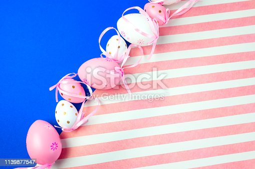 istock Easter background with eggs .Place for text. 1139877547
