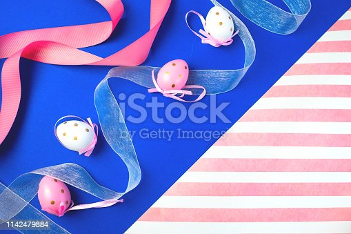 istock Easter background with eggs .Place for text. 1142479884