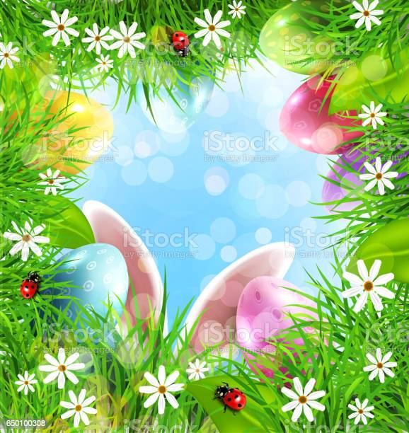 Easter background with rabbit ears eggs grass and blue sky picture id650100308?b=1&k=6&m=650100308&s=612x612&h=ml0ihwtg zscxyzpfvbwocyglmvmfiolzzxfyqudnag=
