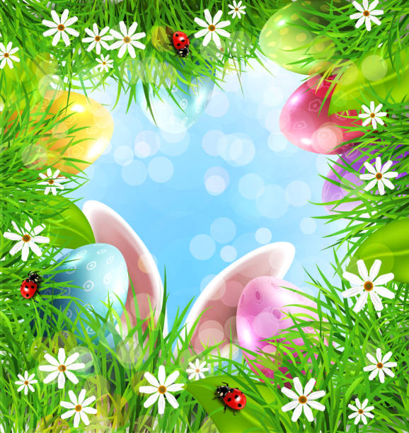Easter background with rabbit ears eggs grass and blue sky picture id650100308?b=1&k=6&m=650100308&s=612x612&w=0&h=3zjzrgtrwsffhxerbtgu5c fnmtmwsqag3ywcpmppxw=