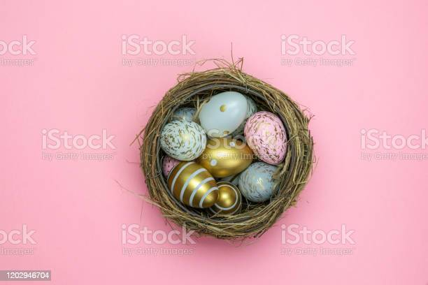 Easter basket eggs isolated on pink for greeting card promotion picture id1202946704?b=1&k=6&m=1202946704&s=612x612&h=ds0kqmtjs ul3iunxp1enfi7swpffxby 76qyan stw=