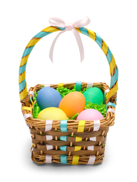 Easter Basket Front stock photo