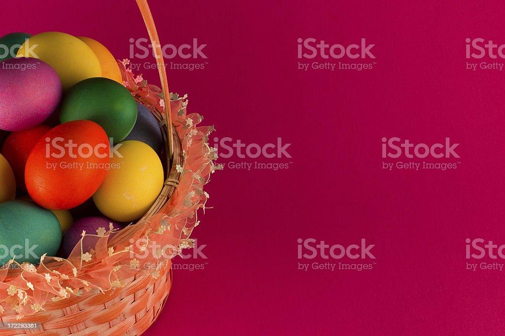 Easter Basket Full of Eggs royalty-free stock photo