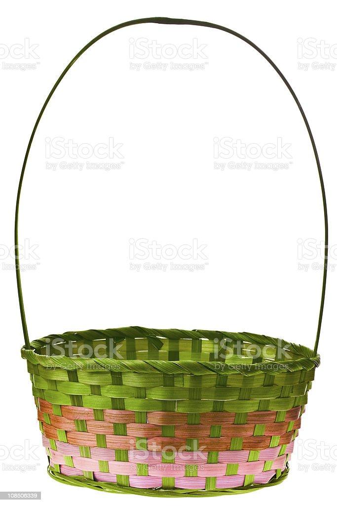 Easter basket isolated stock photo