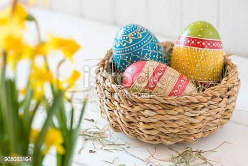 922658520 istock photo Easter Basket 908063164
