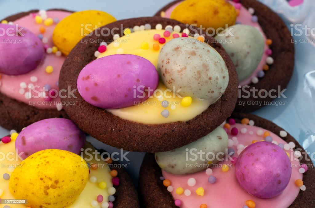 Easter Biscuits Close Up Detail stock photo
