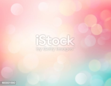 istock Easter blurred background.Soft colors romantic backdrop. 653331550