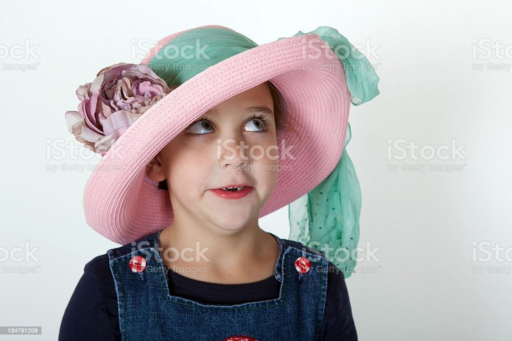 easter bonnet girl royalty-free stock photo