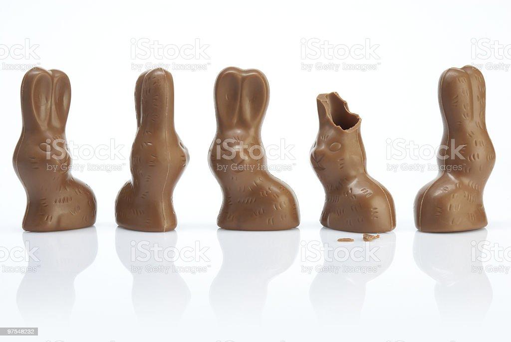 Lapins de Pâques, une perte de ses oreilles photo libre de droits