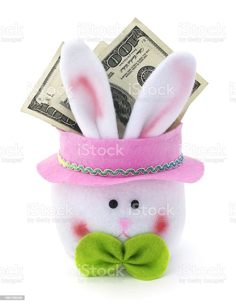 Easter Bunny Cash stock photo
