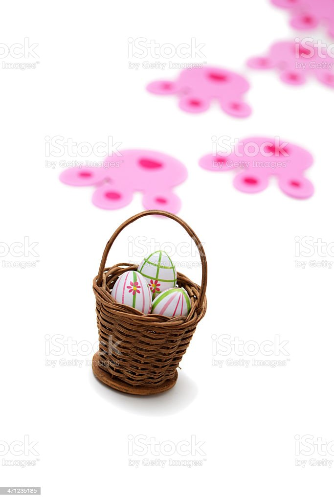 Easter bunny delivery stock photo