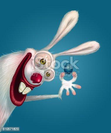 istock Easter bunny freaky crazy 510571820