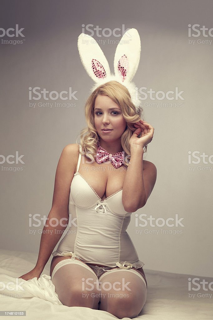 Easter Bunny Girl royalty-free stock photo