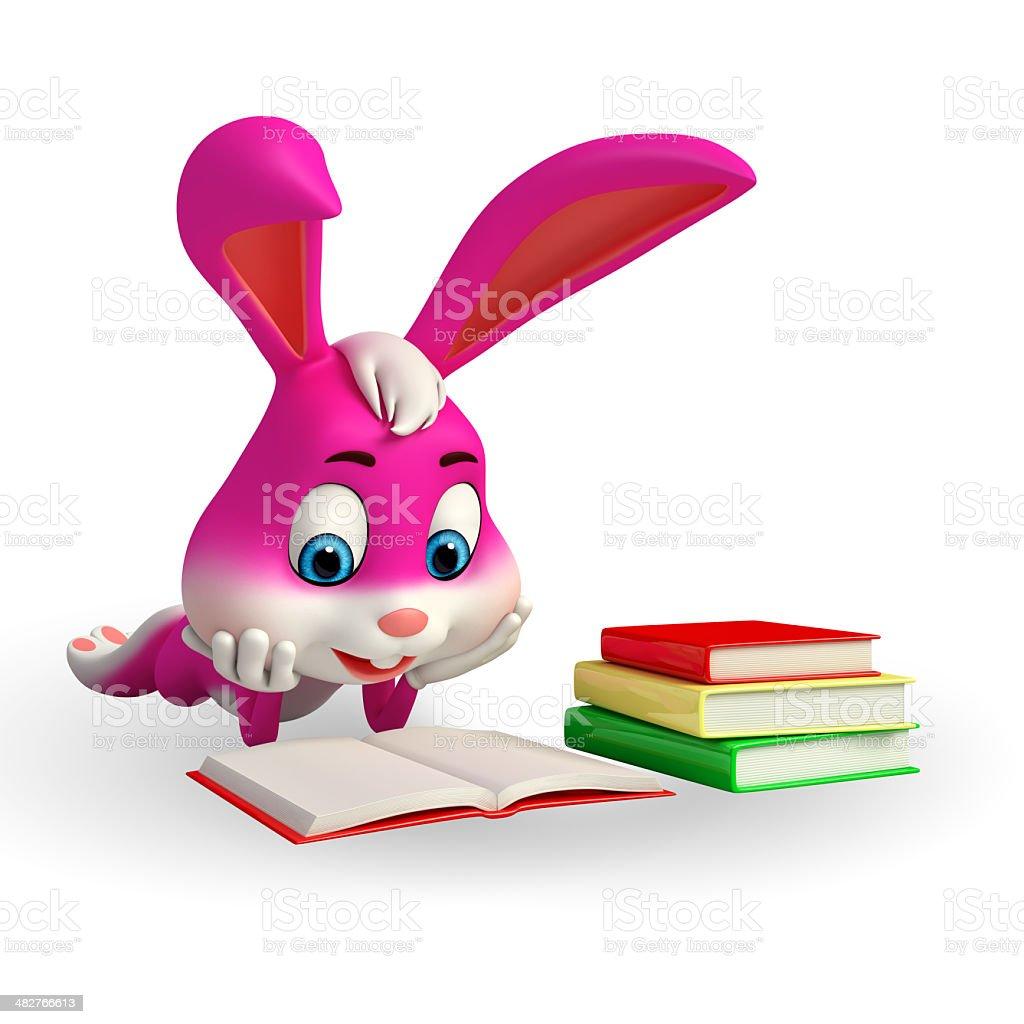 Conejo Leyendo Para Colorear para colorear conejito leyendo el ...