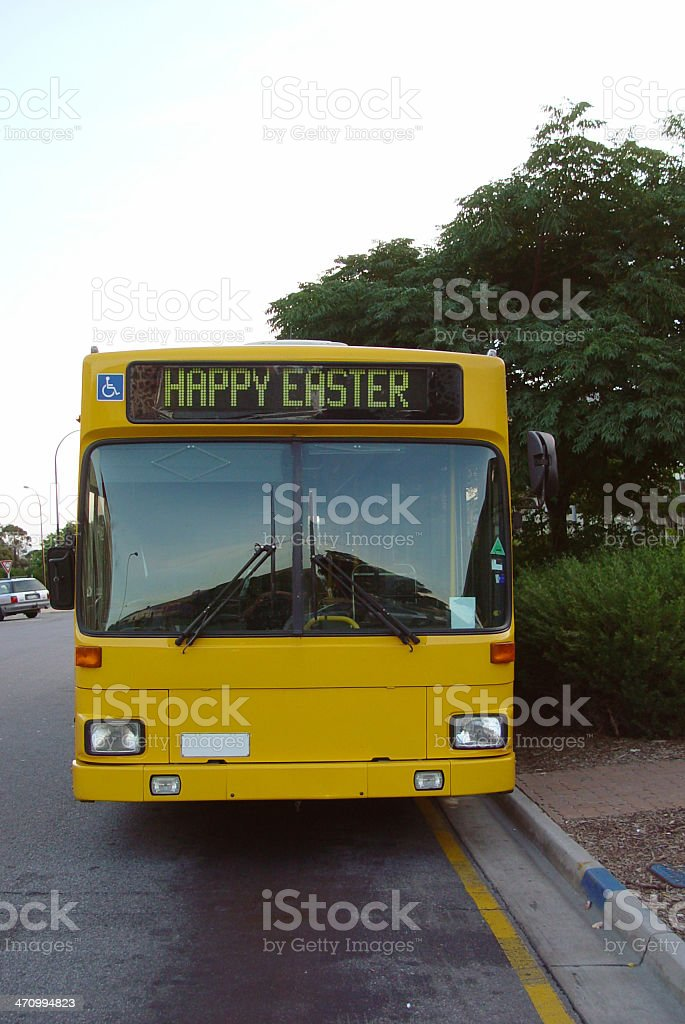 Easter bus royalty-free stock photo