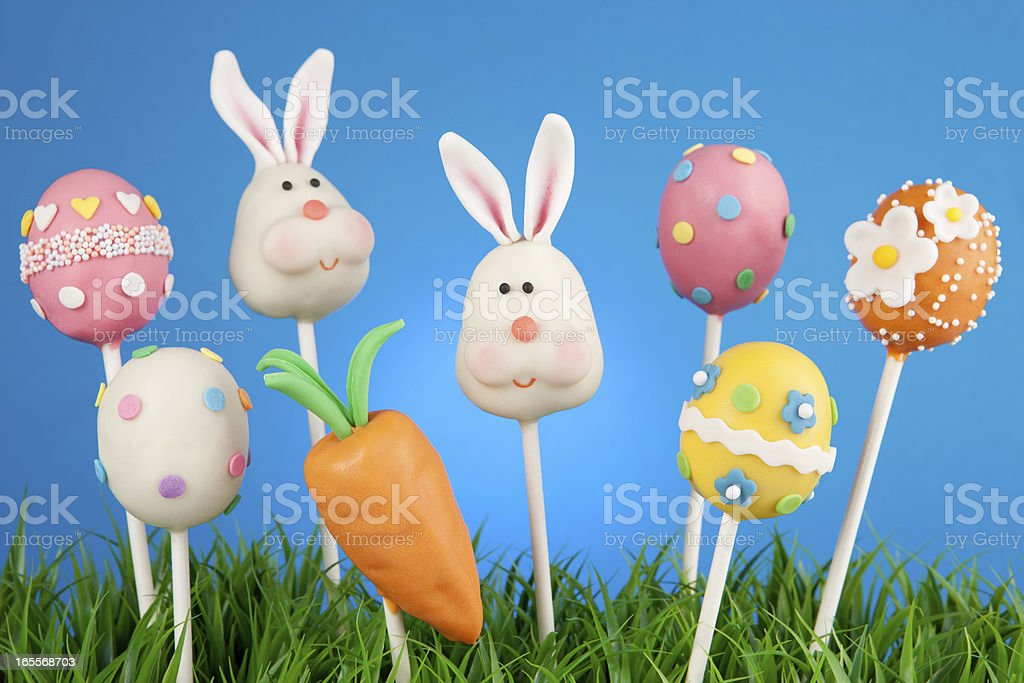 Easter cake pops royalty-free stock photo