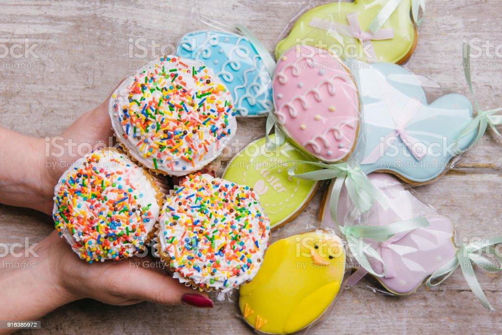 Ostern Kuchen Lebkuchen Cookies traditionelles Essen – Foto
